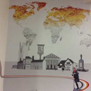 Cottenham Primary School - Mural by Jez Brook