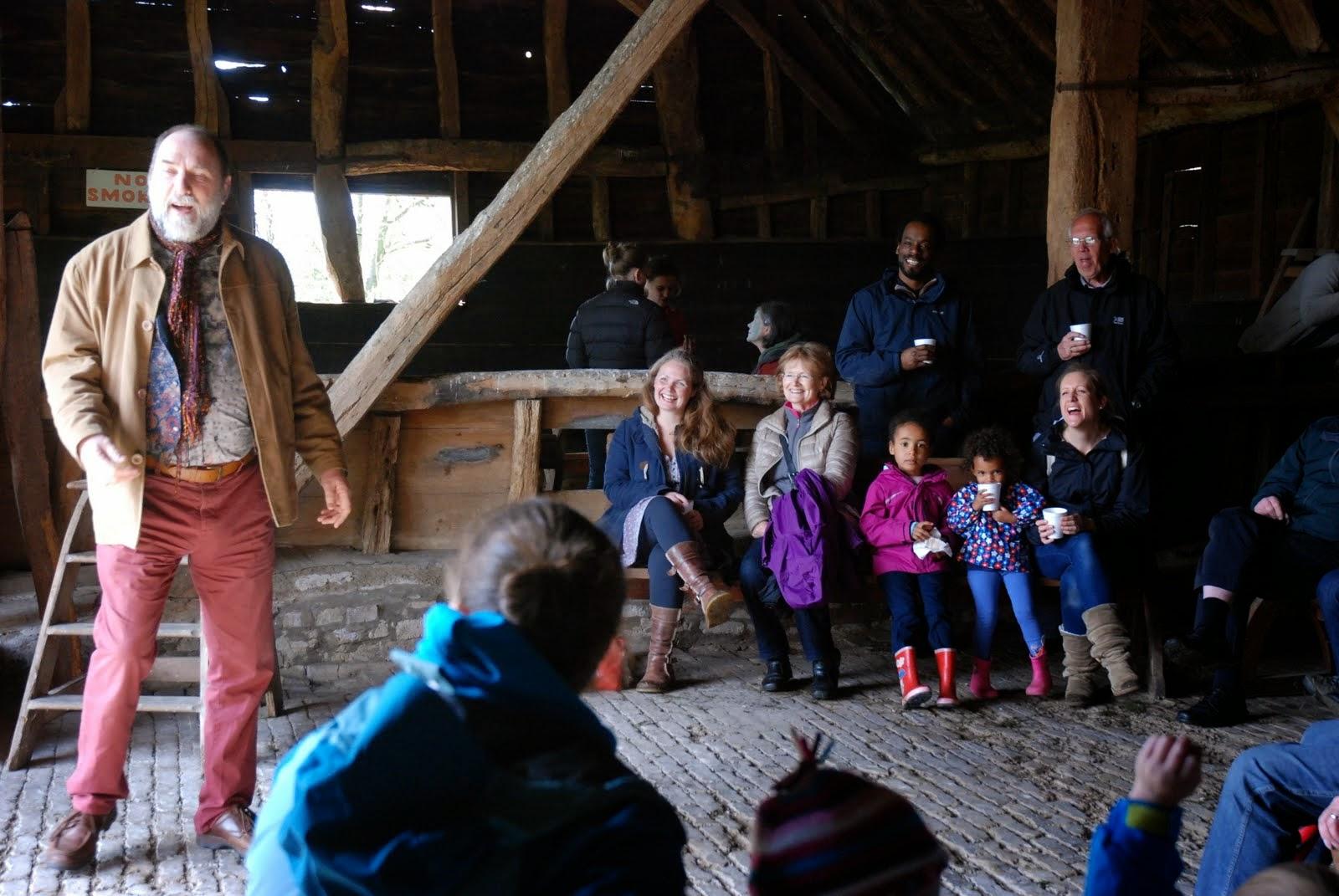 Storytelling at Landbeach Tithe Barn Open Day April 2015