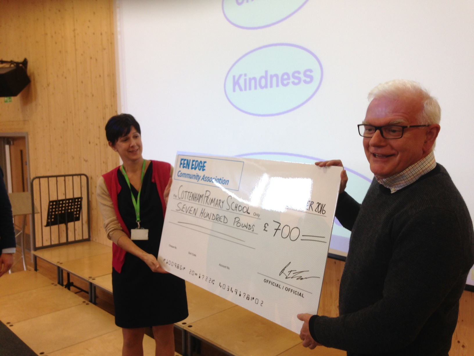 Fen Edge Community Association presentation to Cottenham Primary School