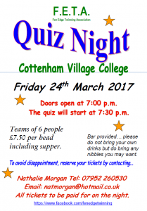 Fen Edge Twinning Association Quiz Night