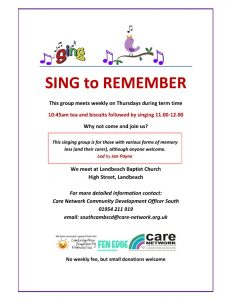 Landbeach Sing to Remember