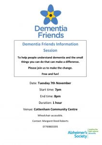 Dementia Friends 7th November 2017