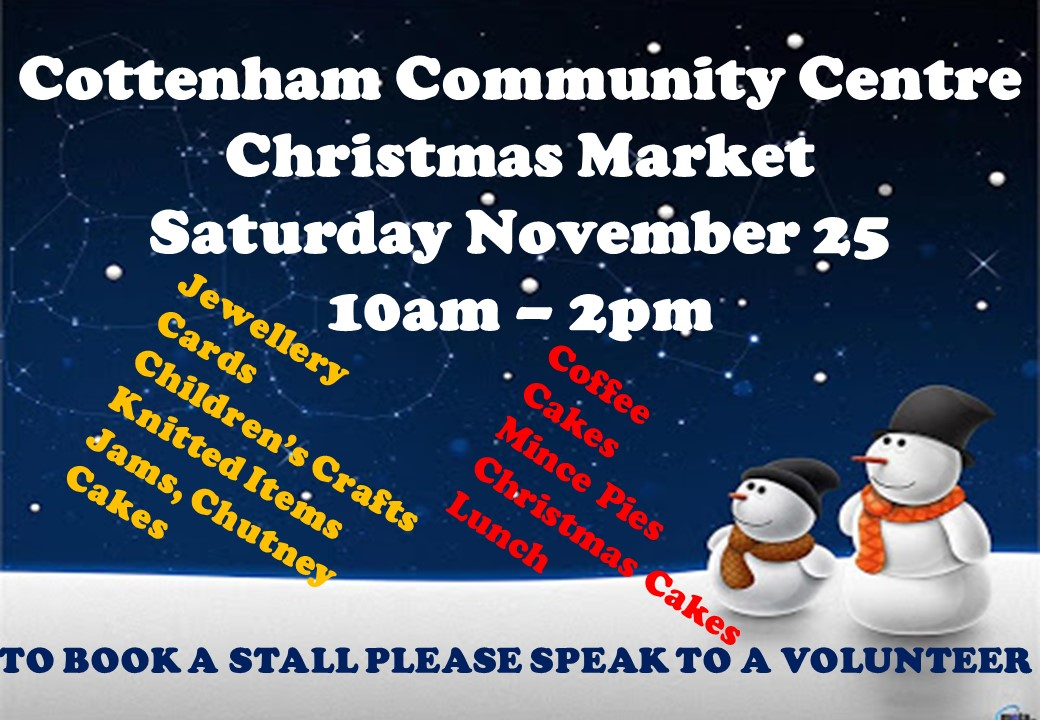 Christmas Market Cottenham Community Centre