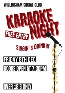 Karaoke Night Willingham Social Club