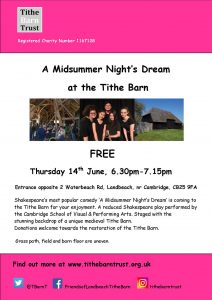 Landbeach Tithe Barn A Midsummer Night's Dream