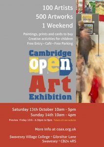Cambridge Open Art Exhibition 2018 Poster