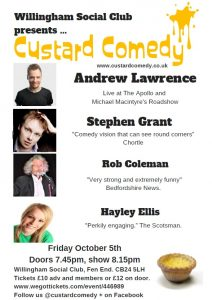 Willingham Social Club Custard Comedy