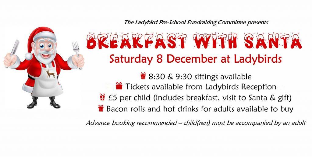 Ladybird Pre-School Breakfast with Santa