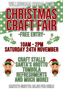 Willingham Social Club Christmas Craft Fair