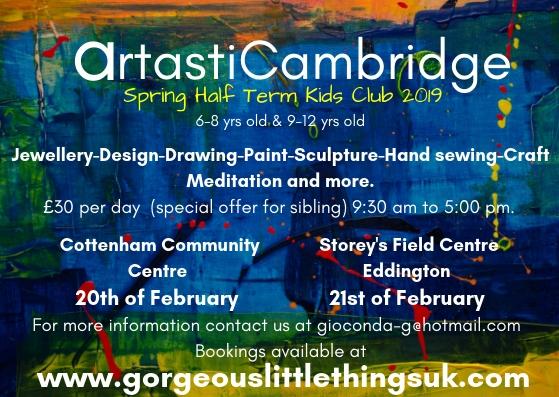 Artastic Holiday Club at Cottenham Community Centre